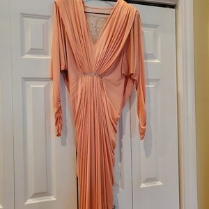 Vintage Lillie Rubin Size 4 Evening Gown-Coral